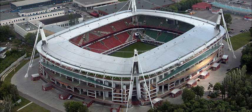 Aerial view of Lokomotiv Stadium