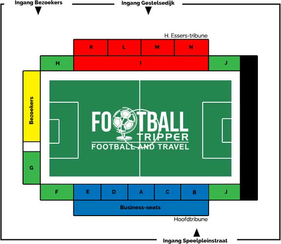 Seating plan for Soevereinstadion