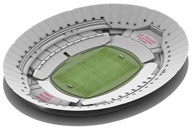 West Ham Olympic Stadium Stadium set up