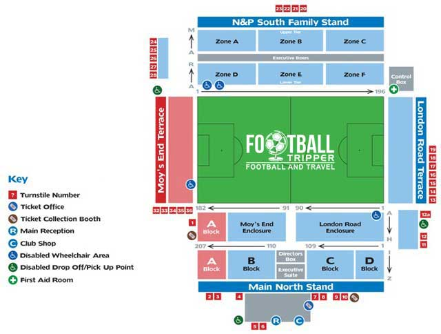 London Road Stadium Peterborough United Seating Plan