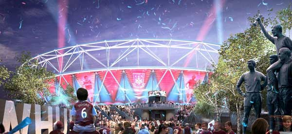 CGI render of Olympic Stadium's exterior