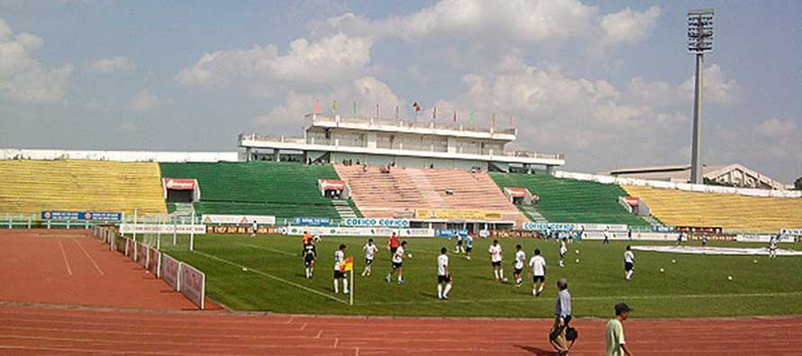 Main stand of Long an stadium