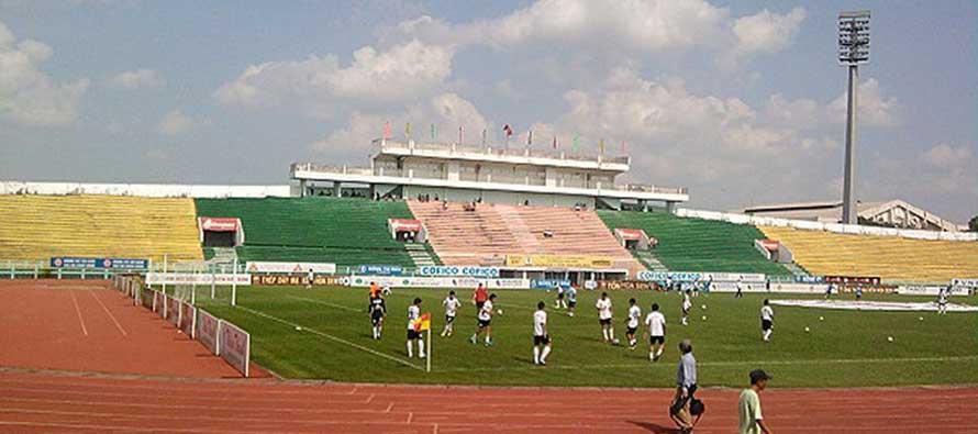 Main stand of Long an stadium