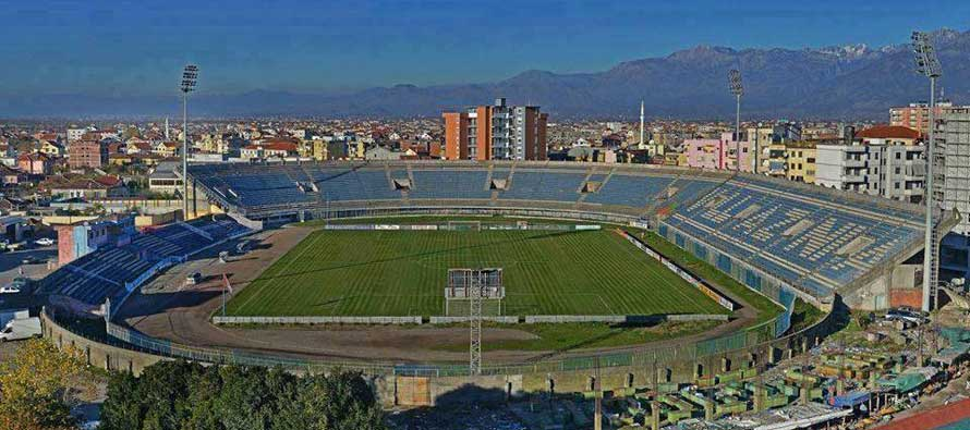 Overlooking view of Loro Borici Stadium