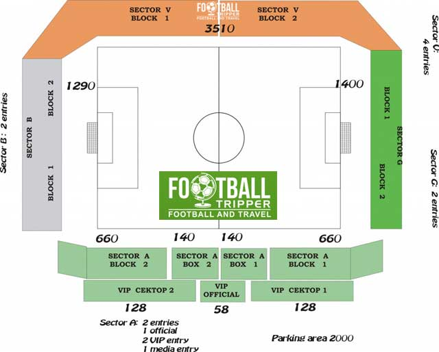 Seating chart for Lovech Stadium