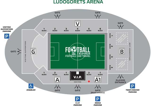 Ludogorets stadium seating map