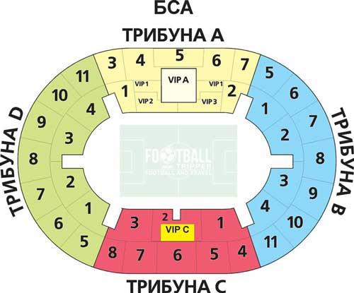 Luzhniki Stadium Moscow Seating map