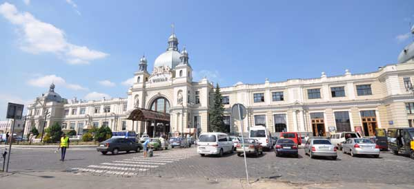 Exterior of Lviv Train Station