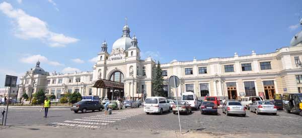 Exterior of Lviv Train Station