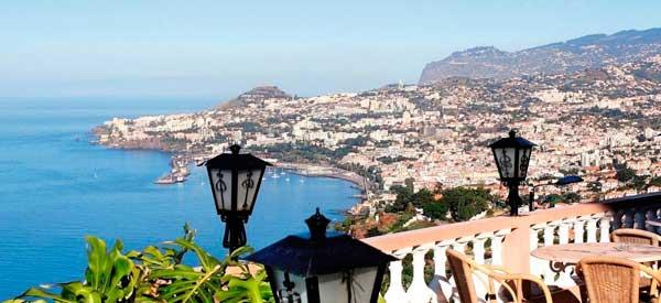Madeira Island aerial view
