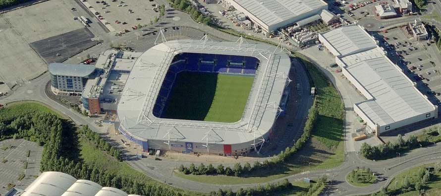 Aerial View of Madejski Stadium