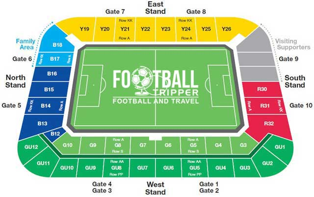 Madejski Stadium Seating Plan