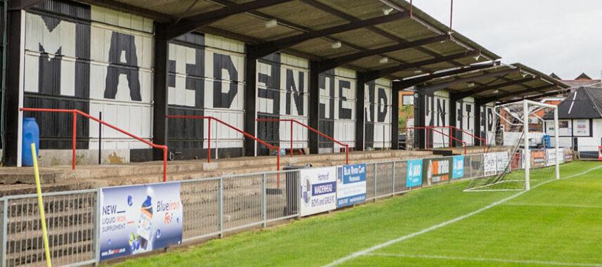 Inside Maidenhead United's ground