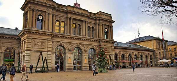 Outisde Mainz Train Station