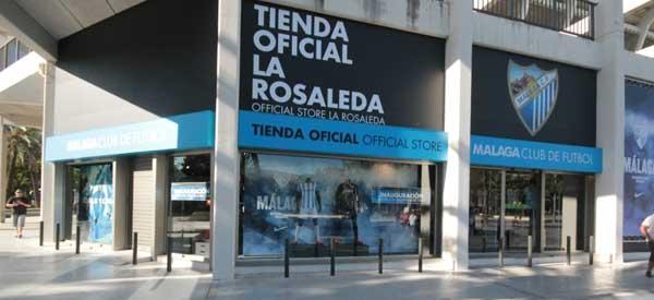 Exterior of Malaga FC club shop