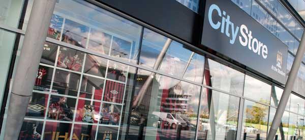 The exterior of Man City's club shop