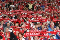 Man Utd supporters inside the stadium
