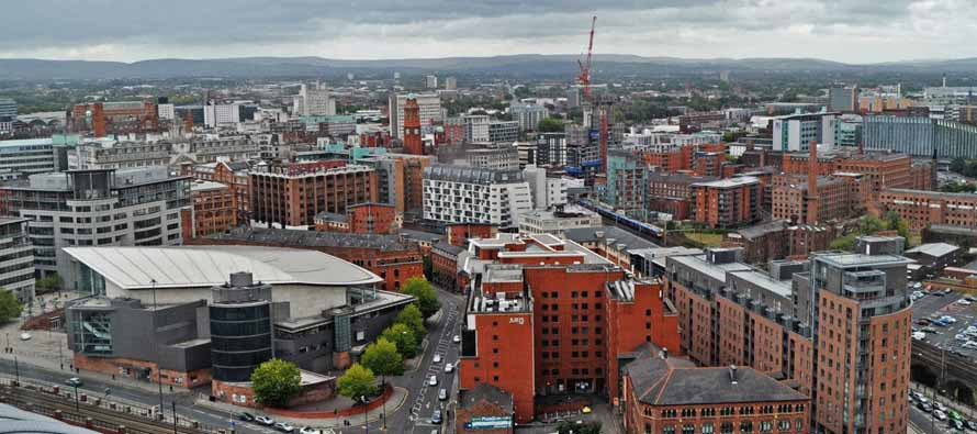 Rooftop view of Manchester