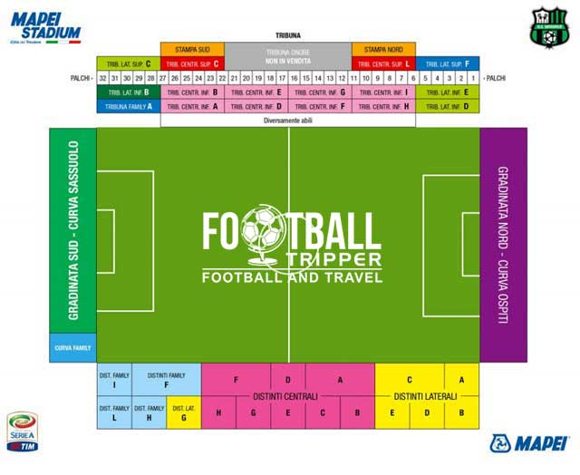 mapei stadium Seating Plan