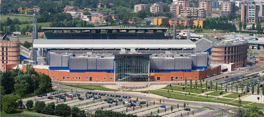 Exterior of Mapei Stadium CItta Del Tricolore