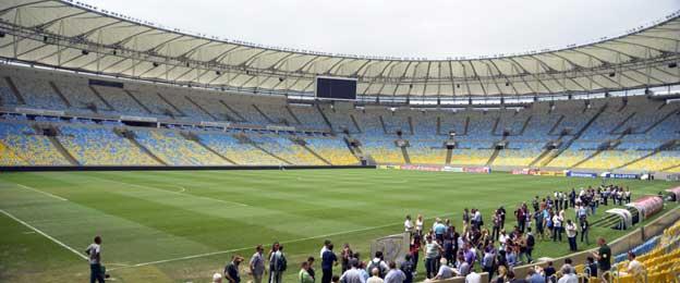 Inside the maracana stadium