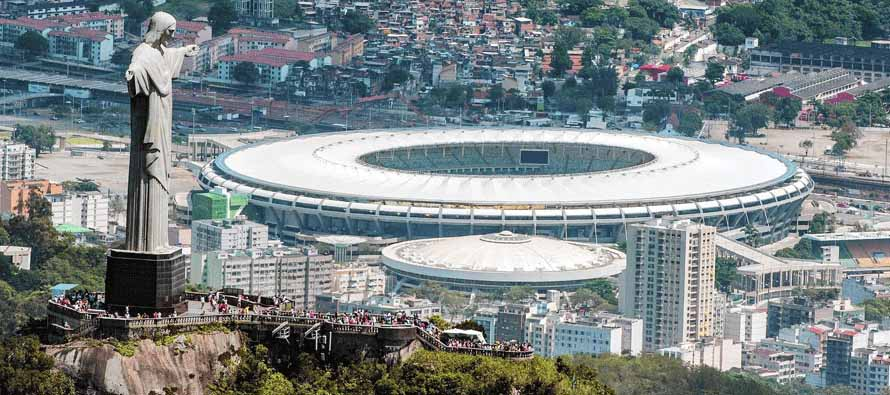 Maracana stadium and Christ the redeemer statue