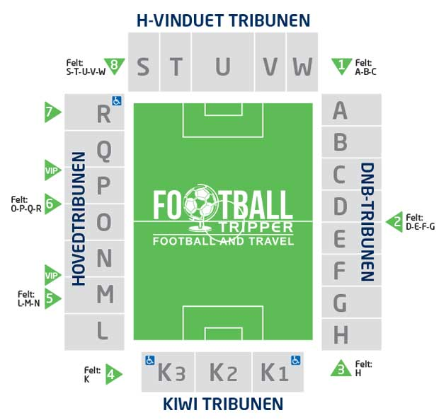 Marienlyst Stadion seating map