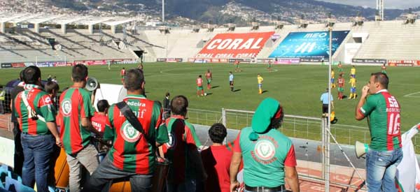 Maritimo supporters inside the stadium