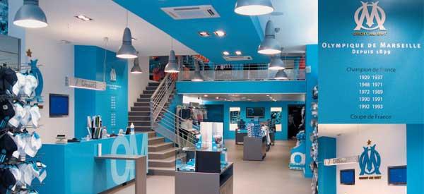 Inside Marseille Club Shop