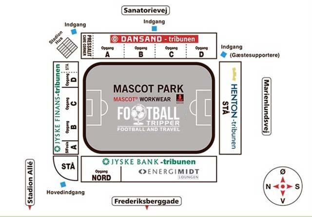 Mascot Park Stadium map