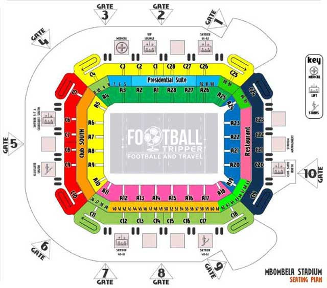 Seating Chart for Mbombela Stadium