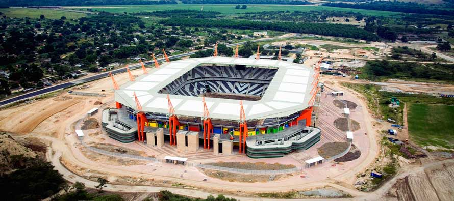 Aerial view of Mbombela Stadium
