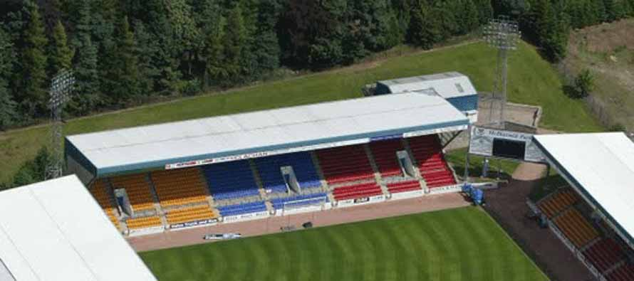 Aerial view of Mcdiarmid Park
