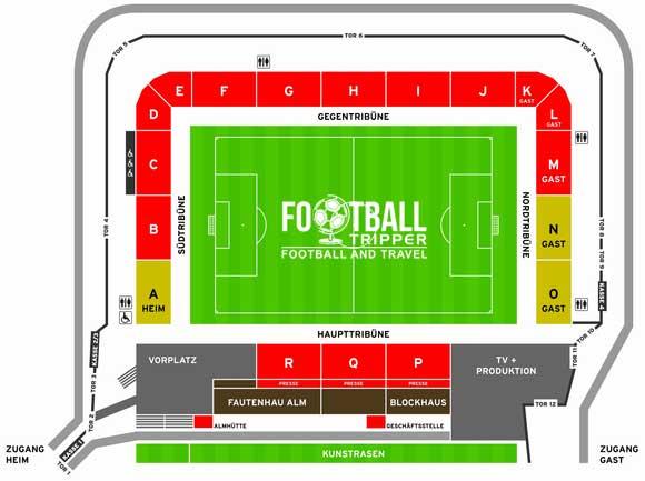 Mechatronik Arena seating plan