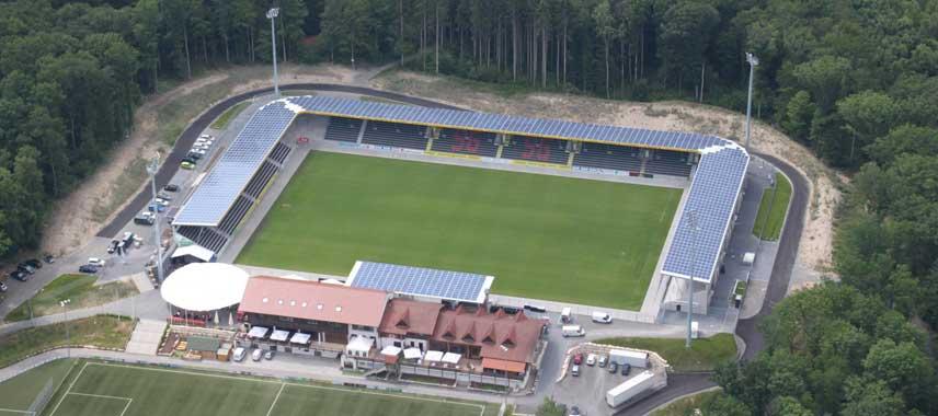 Aerial view of Mechatronik Arena