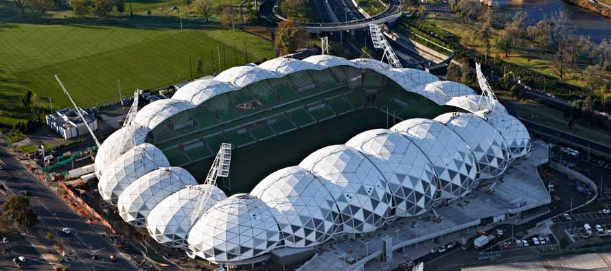 Melbourne Rectangular Stadium from above