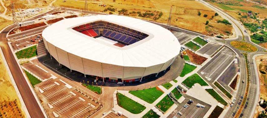 Aerial view of Mersin Arena