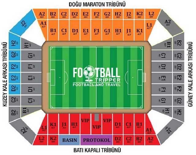 Mersin Arena seating chart