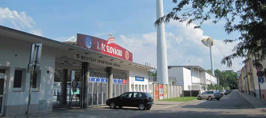 Main entrance of Mestsky Football Stadion