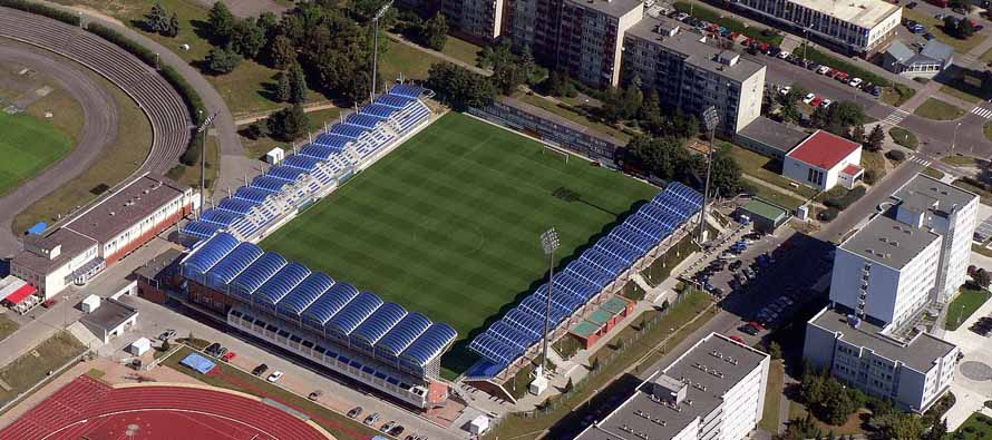 Aerial view of Mestsky Stadion