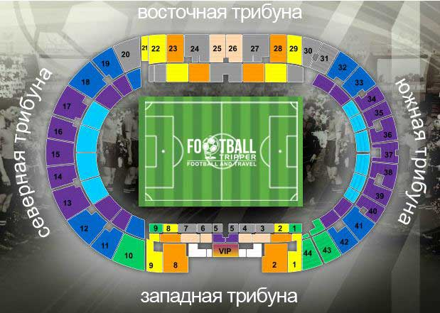 Metalist Stadium seating chart