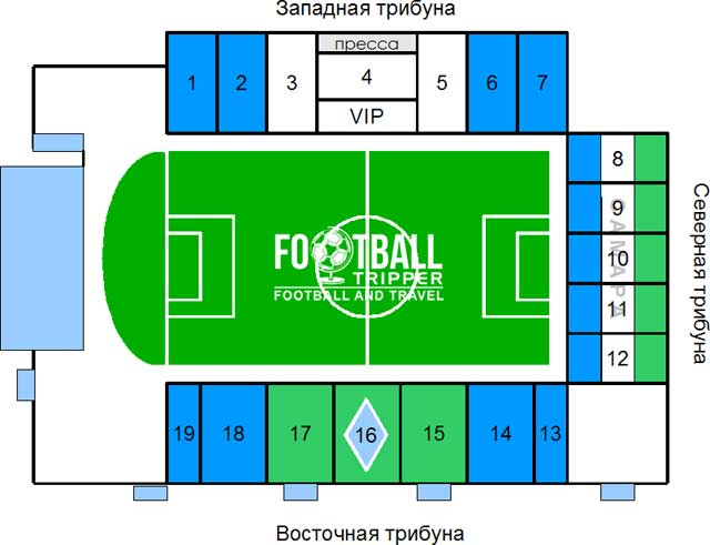 Metallurg Stadion seating chart