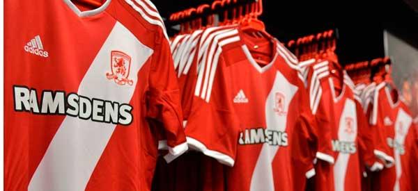 Interior of Middlesbrough club shop