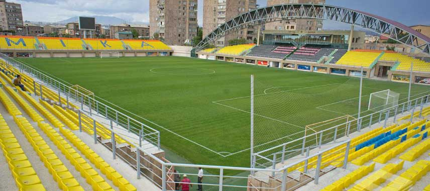 Main stand of Mika Stadium