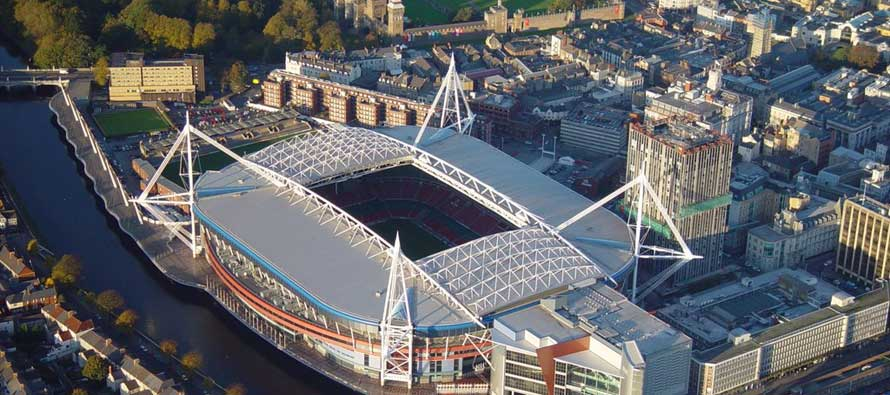 Aerial view of Millennium Stadium