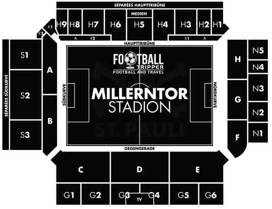 Millerntor Stadion seating plan