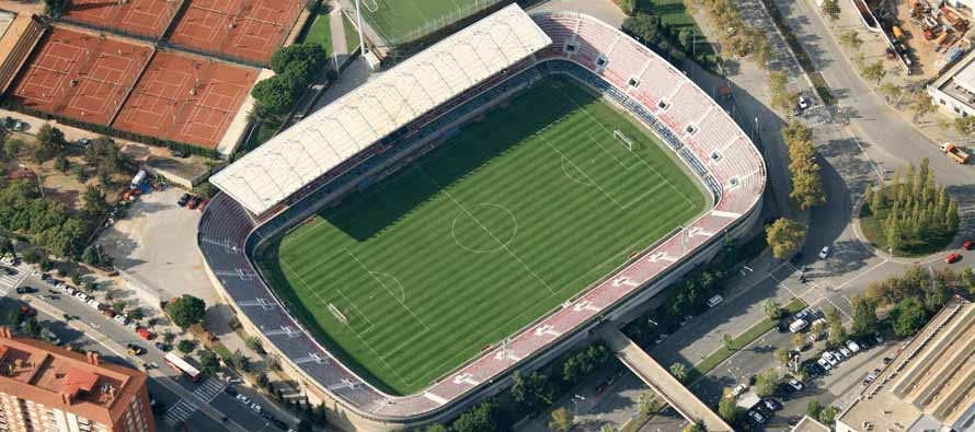 aerial view of mini estadi barcelona