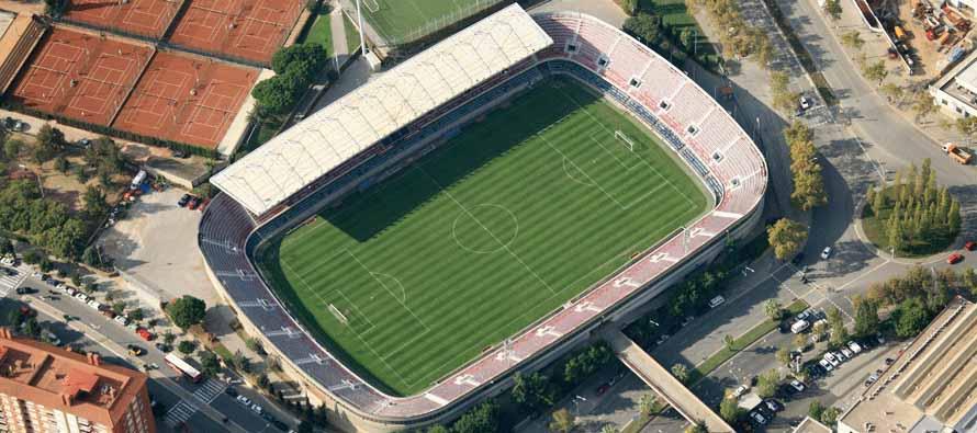 aerial view of mini estadi barcelona
