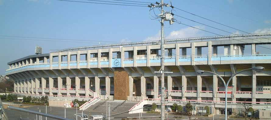 Exterior of Mizuho Athletic Stadium