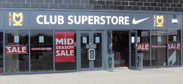 The MK Dons club Superstore